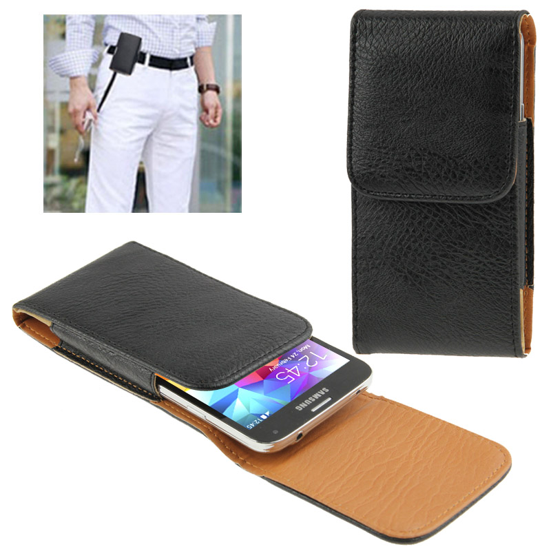sports shoes 54ecb c3a7e Vertical Style Leather Case with Belt Clip for iPhone 6 Galaxy S5 / G900