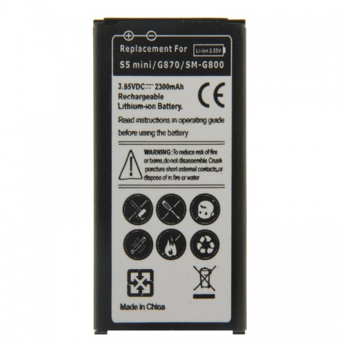 2300mAh Rechargeable Li-ion EB-BG800BBE Battery for Samsung Galaxy S5 mini