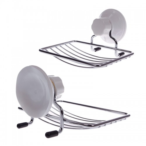 Bathroom & Kitchen Wall Sucker Soap Holder Dish Tray Basket