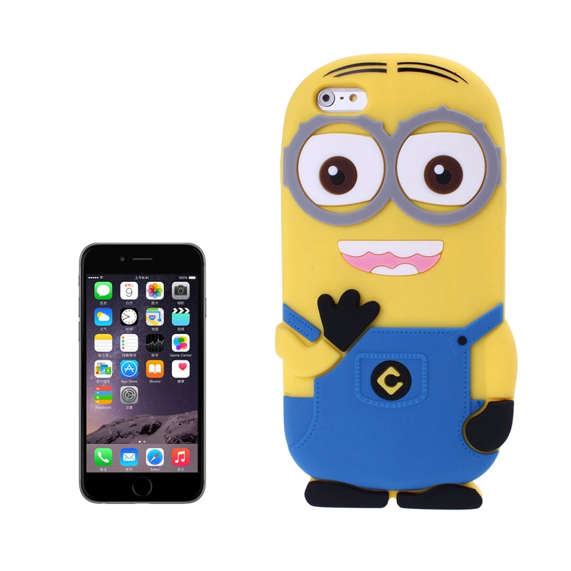 3d despicable me ii minions style silicone case for iphone for Case 3d online
