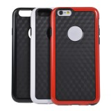 Double Color With Logo Hole Hornet Case For iPhone 6 Random Delivery