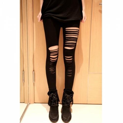 Fantasy Getting Ripped Leggings Women Slim Stovepipe Pantyhose Tights