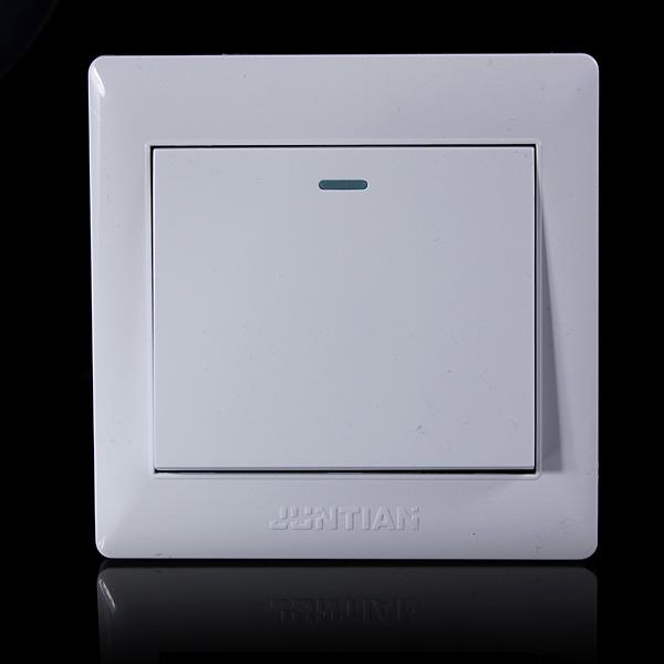 Modern Light Switches >> Universal 10A Power 1 Gang Wall Plate Light Bulb Push Button Switch | Alexnld.com