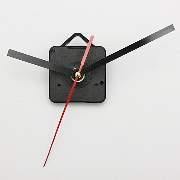 Black Red Hands Quartz Wall Clock Movement Mechanism on Hair Salon Decor