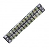 Dual 12 Position 15A 600V Screw Terminal Strip Covered Barrier Block