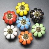 Pumpkins Knobs Handles Ceramic Door Handles Cabinets Cupboard Drawer