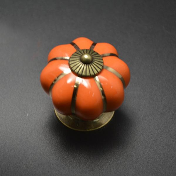 Pumpkins Knobs Handles Ceramic Door Handles Cabinets