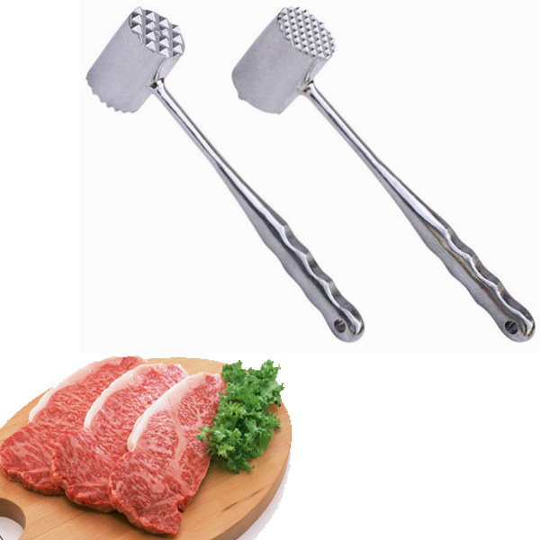 Household Solid Meat Hammer Practical Steak Mallet Loose Meat Stainless Steel