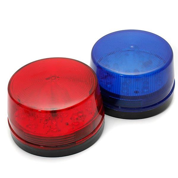 12v Led Security Alarm Strobe Signal Warning Lamp Blue Red