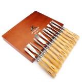 12pcs Carving Chisels Kit Woodworking Knifes Wood Carving Knifes Set