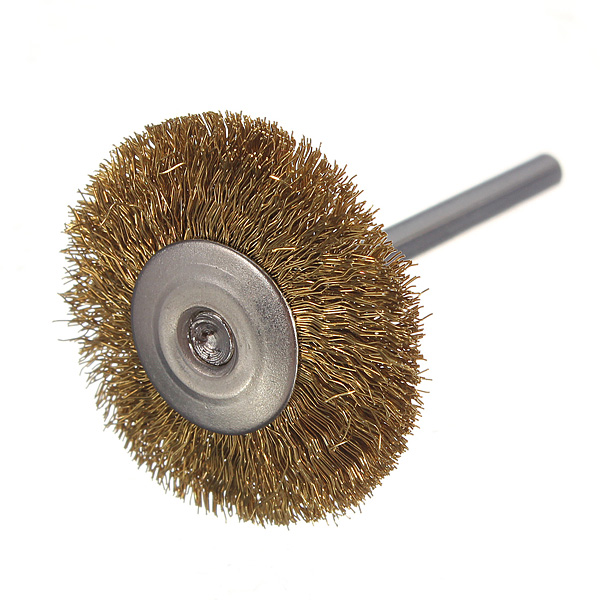 3mm Brass Wire Wheel Brush Cup Fordrill Rust Weld Die