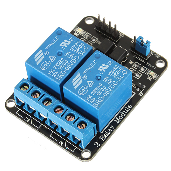 5V 2 Channel Relay Module Shield For Arduino ARM PIC AVR ...