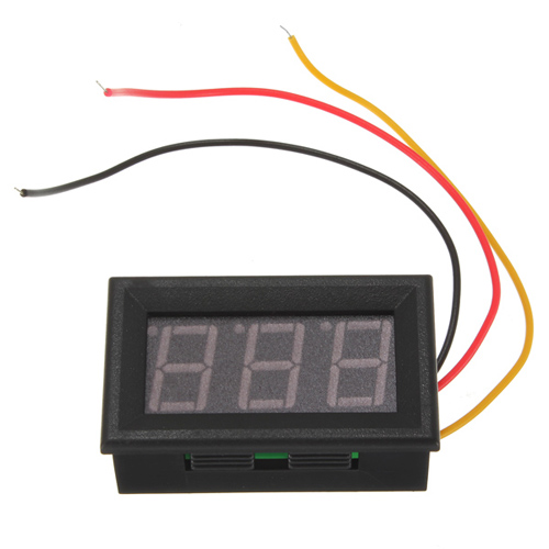 Digital Panel Voltmeter : Mini digital voltmeter red led panel meter dc v to