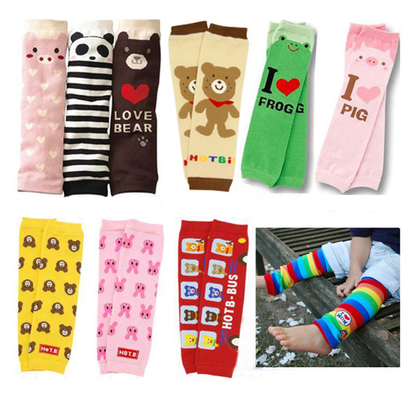 Baby Leg Warmers Children Cartoon Kneepad Socks