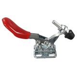 Red Plastic Covered Hand Tool Horizontal Toggle Clamp 201-A 27Kg