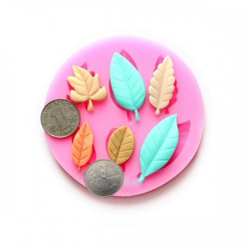 Cake Decorating Chocolate Leaves : DIY Leaves Chocolate Mold Resin Flower Fondant Cake ...