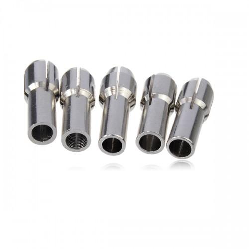 5pcs DREMEL Chucks 1mm/1.5mm/2.35mm/3mm/3.17mm Fits Dremel Rotary Tool