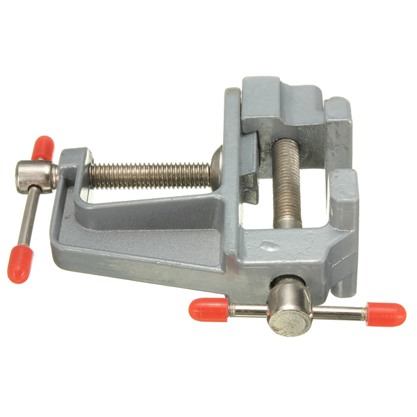 Aluminum miniature small clamp on table bench vise tool