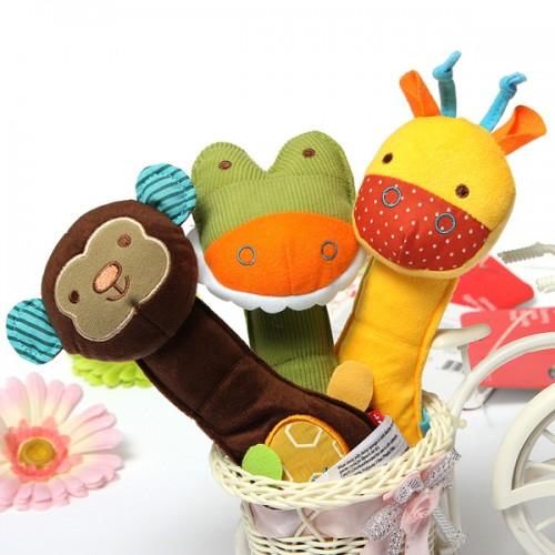 Soft Crib Toys : Baby crib rattle soft animal handbell development toy
