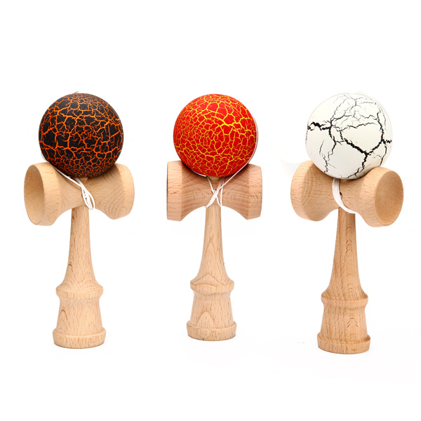 Children Crack Pattern Kendama Ball Toy Traditional Game