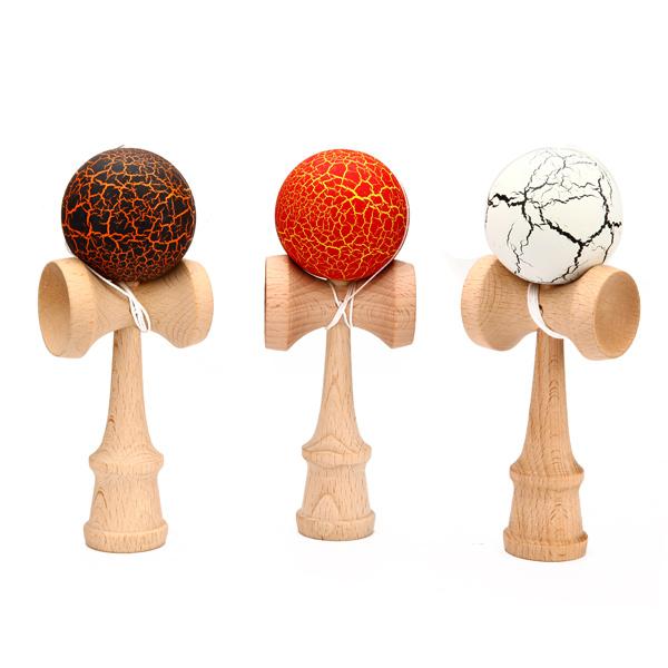 Children Crack Pattern Kendama Ball Toy Traditional Game