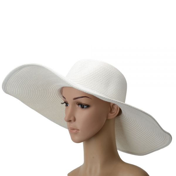 Oversized Large Brimmed Hat Sun Straw Beach New 9a5e2c9ada84