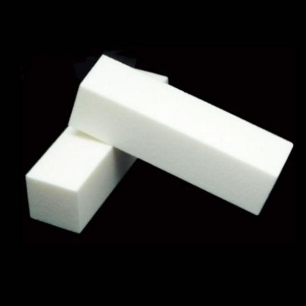 White Nail Art Buffer Buffing Sanding Files Block