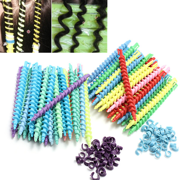 25Pcs Styling Plastic Hairdressing Spiral Hair Perm Rod ...