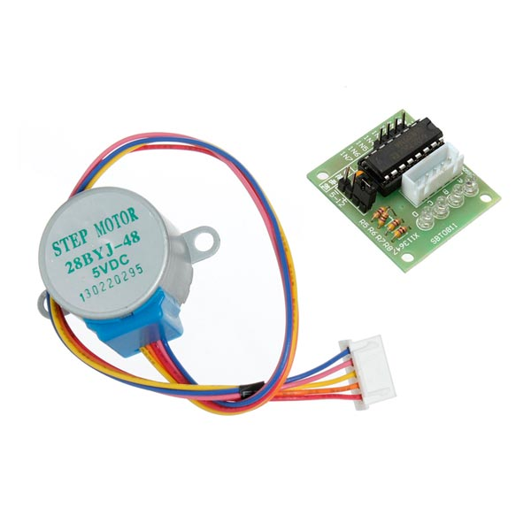 28ybj 48 dc 5v 4 phase 5 wire stepper motor with uln2003 for How to test stepper motor
