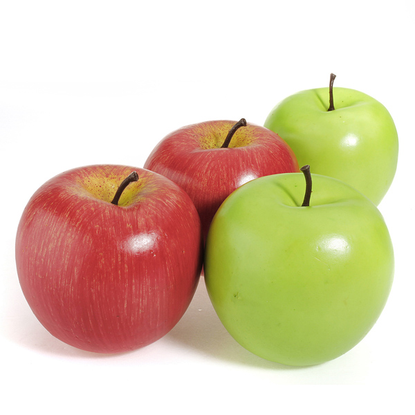 green and red apples. sku081904 06 jpg · 3 artificial green delicious apple and red apples