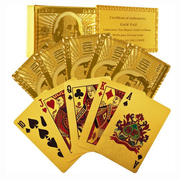 Certified Pure 24 Carat Gold Foil Plated Poker Cards