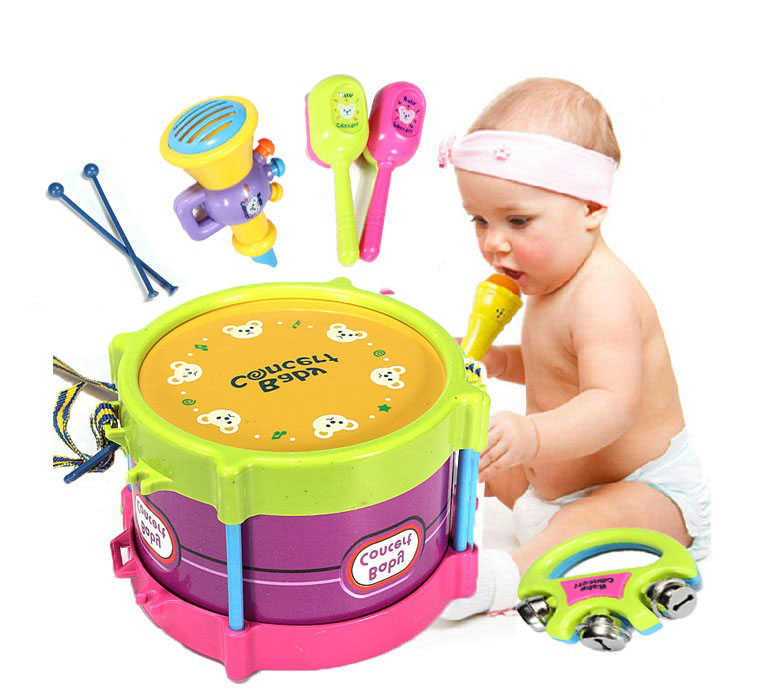 Baby Two Side Drum Musical Instruments Kids Drum Set Children Toy