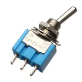 3 Pins Toggle Switch AC 125V 6A ON/ON 2 Position SPDT
