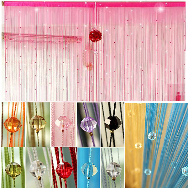 Wall Decor With Crystals : Imitated crystals beads string curtain window diy wall