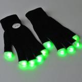 7 mode LED Finger Gloves Lighting Flashing Rave Toy Dance Party