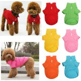 Pet Dog Collar Puppy Polo T-Shirt Clothes Outfit Apparel Coat Cotton