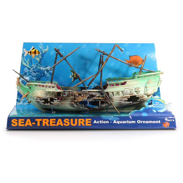 Aquarium decoration air split shipwreck aquarium ornament for Aquarium airplane decoration