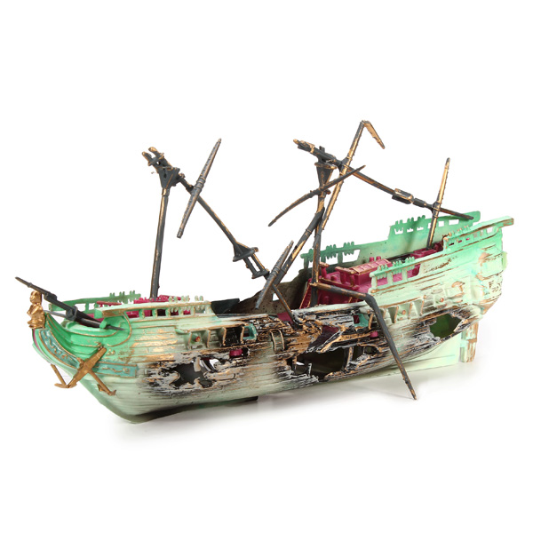 Aquarium decoration air split shipwreck aquarium ornament for Aquarium decoration shipwreck