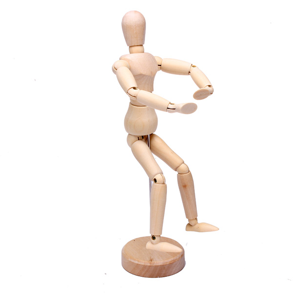 Wooden Model for Drawing Artist Figure Doll Wooden Hand Model
