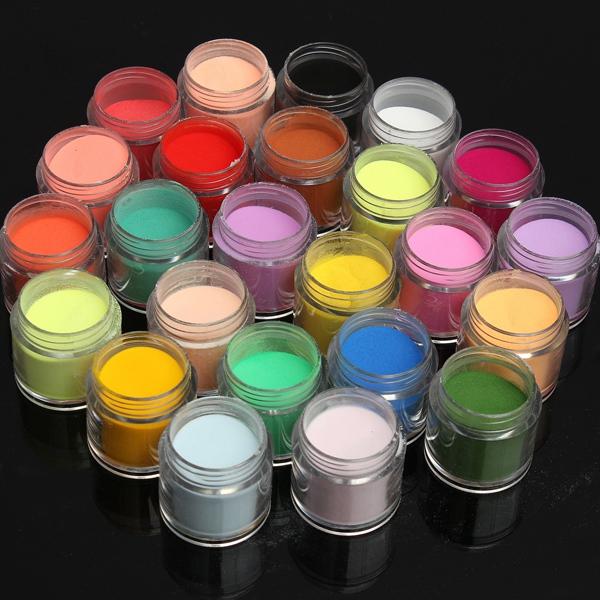 24 Colors Acrylic Manicure Nail Art Powder Dust Decoration   Alexnld.com