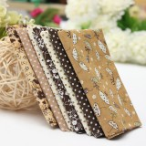 1 Set Brown 7 Assorted Sewing Quilt Fabric Cotton Quilt