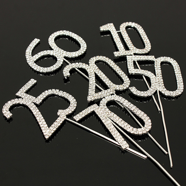 how to make number cake toppers