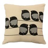 Retro Leaf Pillow Case Linen Cotton Cushion Cover Home Decor