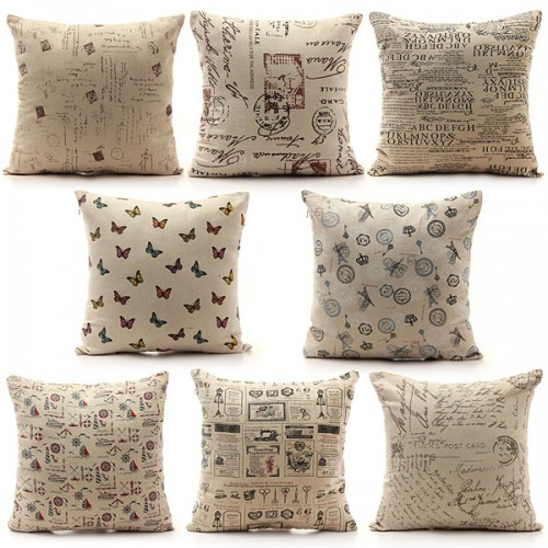 Shabby Chic Bed Pillows : Vintage Shabby Chic Linen Pillow Case Home Bed Decor Cushion Cover Alex NLD