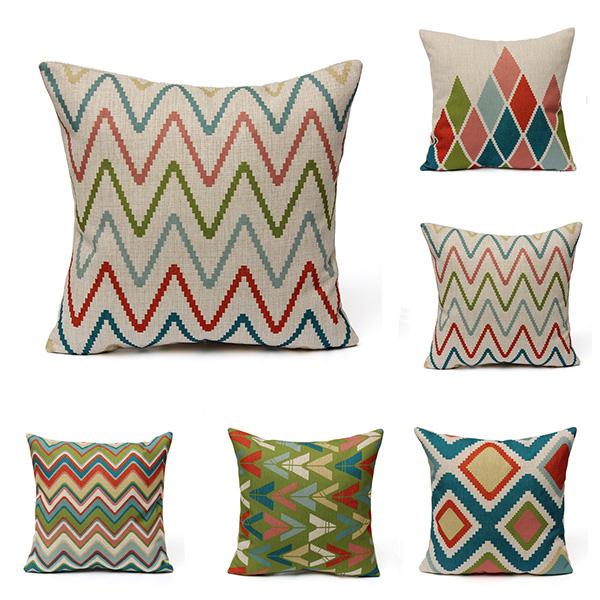 geometric waves home decor throw linen pillow case sofa nordic style geometric throw pillows for home decor suede