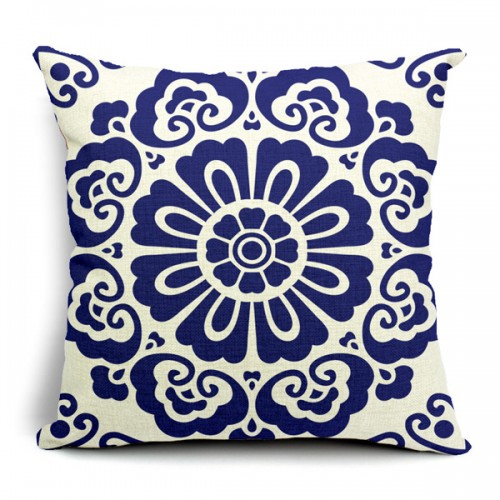 Chinoiserie Pillow Case Blue And White Porcelain Pillowcase Alex Nld