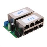 8 Port POE Injector Over Ethernet Power Supply Splitter Combiner Module
