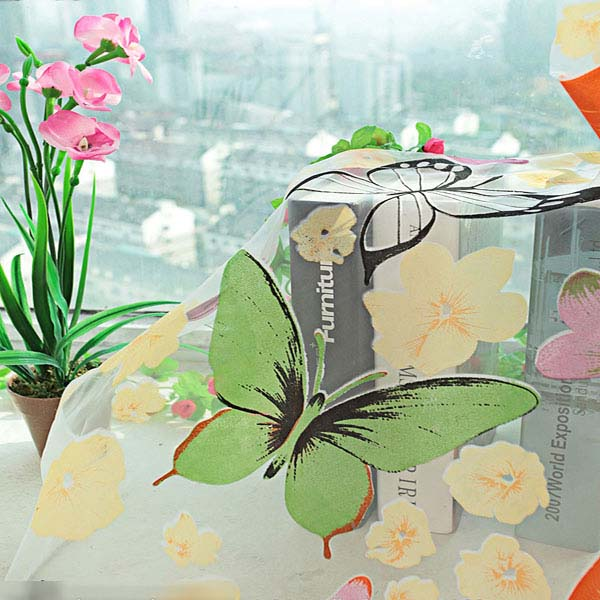 Butterfly Print Sheer Window Curtains Home Decoration | Alex NLD