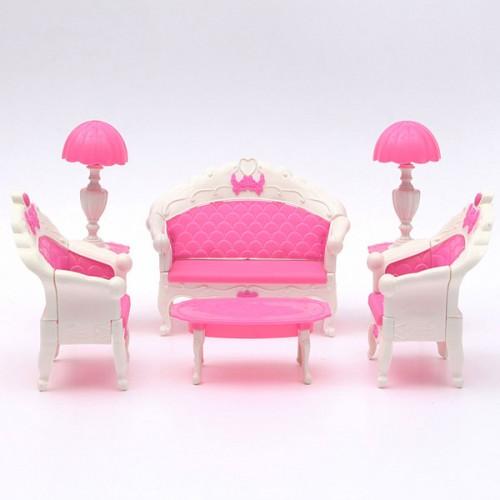 Pink Dollhouse Furniture Living Room Parlour Sofa Set   Alexnld.com