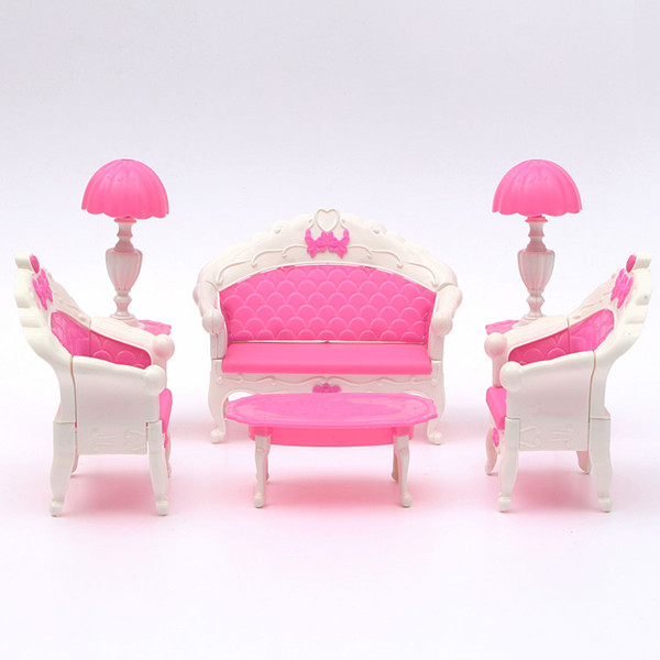 Pink dollhouse furniture living room parlour sofa set alex nld
